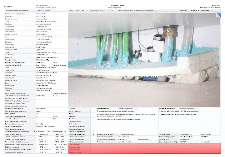 Uccomaster asiakirja - Korjauskäsittelyn seuranta